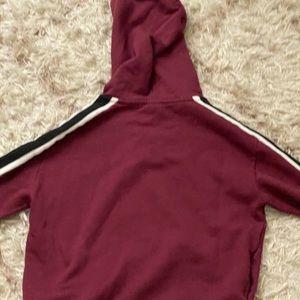 PINK Victoria's Secret Tops - maroon victoria secret pink hoodie size XS